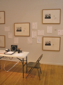 Ayala and Morris' installation with gallery patron contributions on day 1