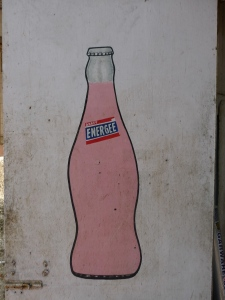 hand painted soda ad