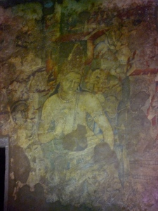 The Buddha with the lotus - 7th or 8th century - Ajanta caves