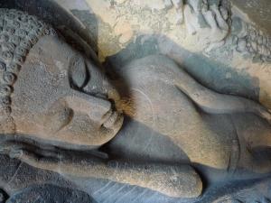 "The ""Sleeping"" Buddha - 7th or 8th century - Ajanta caves"